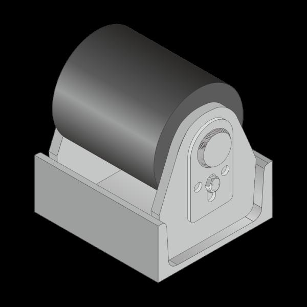 Polyamid-Rolle für Citybehälter 40mm Achs Ø