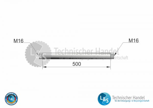 Zugdruckachse M16 500mm