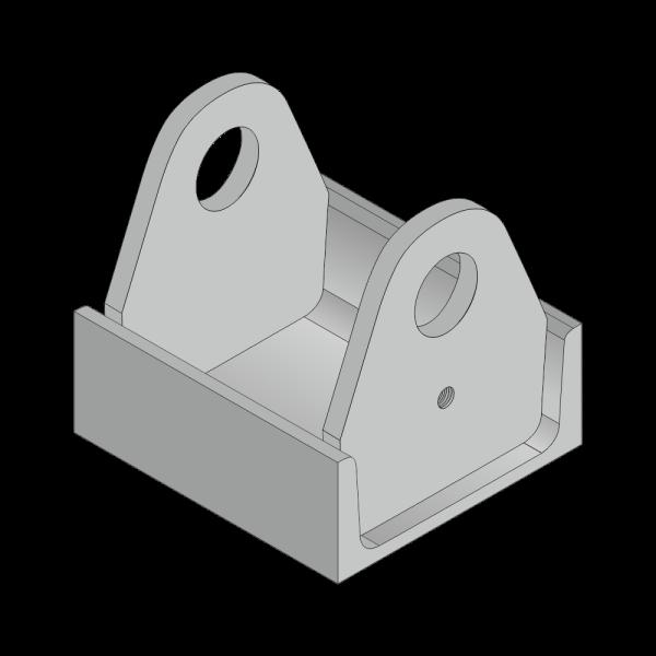 Rollenhalter für Citybehälter 40mm Achs Ø