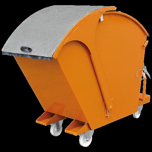 Abfallcontainer zum Kippen mit Runddeckel Typ 2026_1