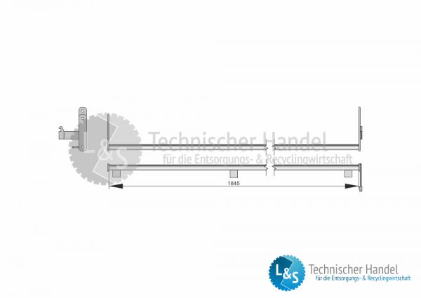 Verschlussbügel für ÜK-Behälter 1845mm