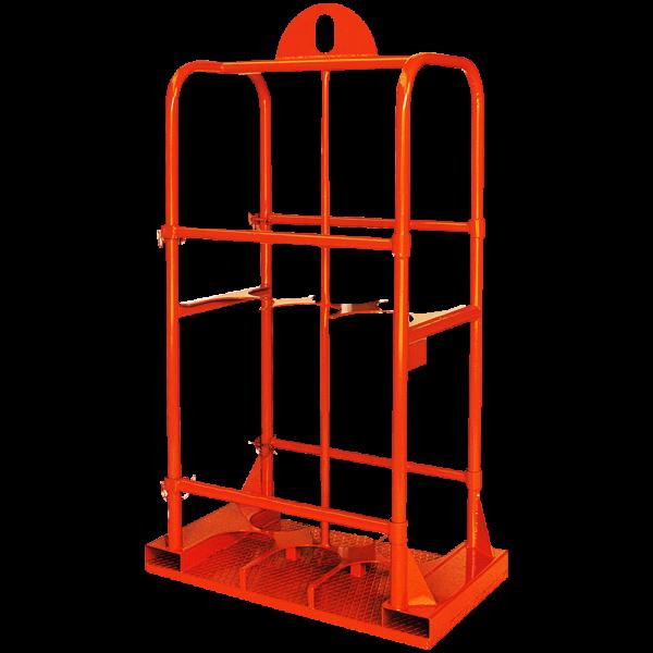Gasflaschen-Transportgestell für Stapler und Kran 1328_1
