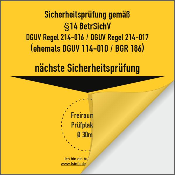 Träger für DGUV Sicherheitsprüfung