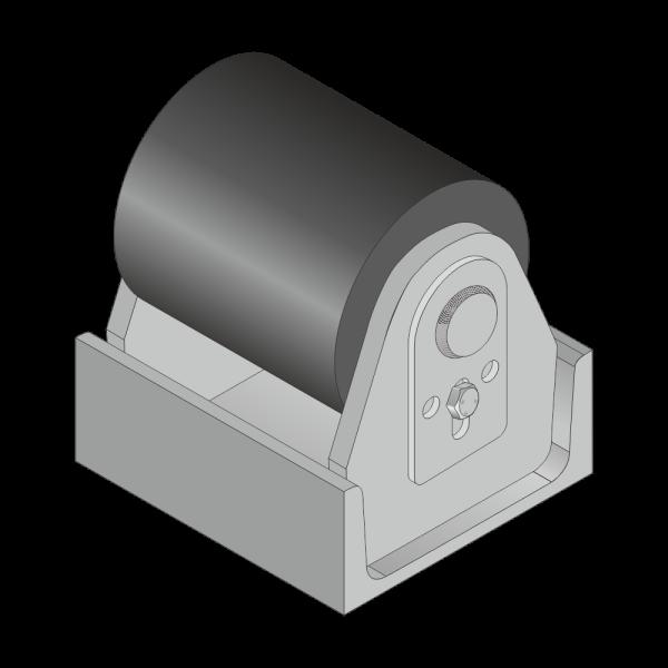 Polyamid-Rolle für Citybehälter 30mm Achs Ø