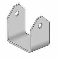 Halteblech für 15mm Ø Vorstecker