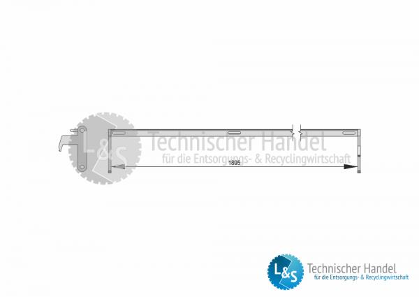 Verschlussbügel für ÜK-Behälter 1895mm