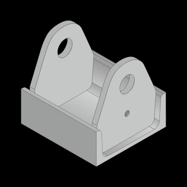Rollenhalter für Citybehälter 30mm Achs Ø