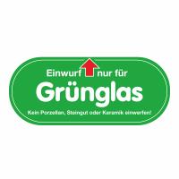 """Glascontainer Aufkleber """"Grünglas"""""""