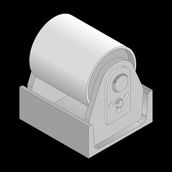 Stahl-Rolle für Citybehälter 30mm Achs Ø