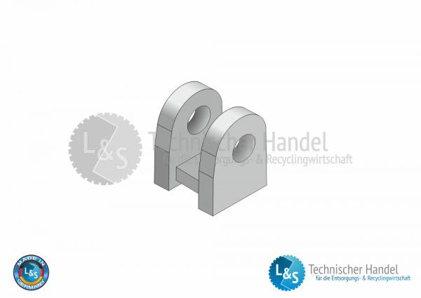 Containerbock für Augenschraube M16